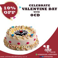 Surprise your lover with Valentines Day Cake & Flowers Gifts on Mid-night Delivery at their doorstep by Online Cake Delivery, Send Gifts in delhi, Anywhere! Online Cake Delivery, Valentine Day Cupcakes, Cake Online, Yummy Cakes, Crowd, Vanilla, Cherry, Birthday Cake, Colorful
