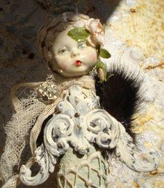 Assemblage ART Doll WINTER CELEBRATIONS