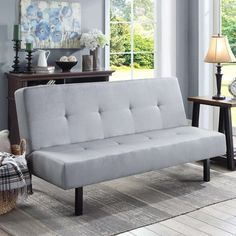 "Mainstays 65"" 3-Position Tufted Futon, Multiple Colors - Walmart.com Cheap Furniture, Sofa Furniture, Living Room Furniture, Kitchen Furniture, Furniture Ideas, Furniture Websites, Inexpensive Furniture, Furniture Online, Furniture Companies"