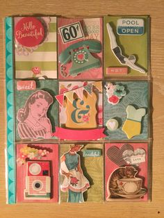 Retro 1950's pocket letter by Brittany Mitchell!!!!
