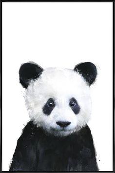 Little Panda en Affiche sous cadre standard par Amy Hamilton   JUNIQE