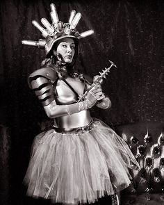 """""""Ray Gun in the Parlor"""" by Scott Speck (Integrity_of_Light on flickr) """"This is a 4x5 Crown Graphic film exposure using a 90mm lens. For this shot, Electric Valkyrie [always played by Kelly Kalac] posed with her ray gun while standing in her own parlor..."""""""