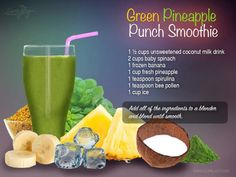 Green Pineapple Punch Smoothie