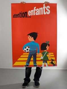 Lots of fab vintage posters at Human Empire!  Attention Enfants (128x90cm)