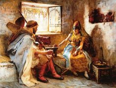 Frederick Arthur Bridgman The Game of Chess - The Largest Art reproductions Center In Our website. Low Wholesale Prices Great Pricing Quality Hand paintings for saleFrederick Arthur Bridgman Classic Art, Art Painting, Oriental Art, Bridgman, Drawings, Painting, Painting Reproductions, Art, American Painting