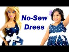 Barbie Doll Dress | How To Make an Easy No-Sew (no sew) dress for Barbie and You - YouTube