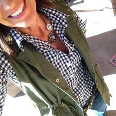 """It's Thursday Day 15 of my #January #WinterFashion #StyleChallenge and today I'm sharing my new favorite #Gingham #plaid shirt and my new #UtilityVest as…"""