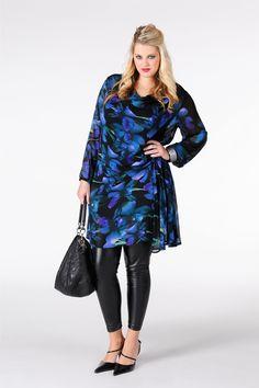 Tunic waist smock ORCHID - Yoek plus size fashion grote maten mode winter 13/14