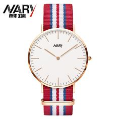 Fashion Nylon Strap Simple Luxury Rose Gold Dial Casual Quartz Watch