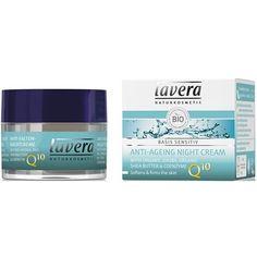 Crema de noapte antirid cu coenzima Q10, Basis Sensitiv (106041)