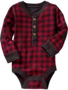 Baby Clothing: Baby Boy Clothing: Buffalo plaid. Why haven't I seen cute clothes like this in stores?
