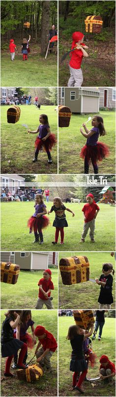 Pirate Party I love the chest pinata idea Pirate Day, Pirate Birthday, Pirate Theme, Pirate Party Games, Girls Pirate Parties, Peter Pan Party, Girl Pirates, Strawberry Shortcake Party, Shark Party