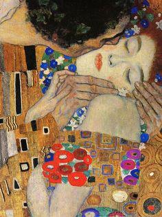 Gustav Klimt: The Kiss (detail)    (i found it on http://megeveryday.tumblr.com/)