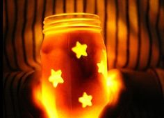 Star Jars Craft  - My little shining stars are going to love this craft for 4th of July.  Daniel 12:3