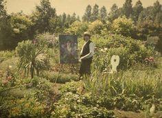 Van Besten pinta su jardín, 1912