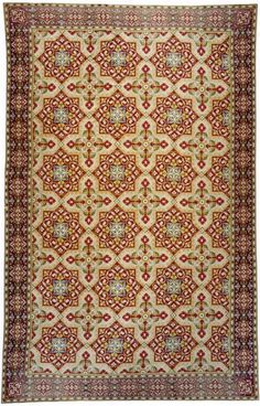 "A third quarter 19th century French ""Gothik"" Needlepoint rug. Size 13' 10"" x 21' 8"" at Beauvais Carpets."