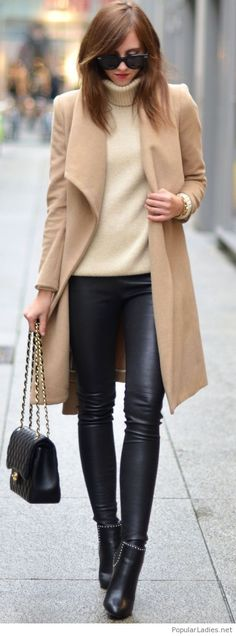 Chic in nude and black