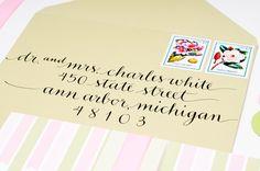 pretty calligraphy #wedding #envelope #handlettering #details #invitations