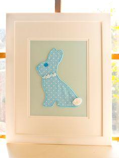 Nursery Wall Art,, Nursery Decor, Bunny Nursery, Boys Nursery Art, Baby Wall Art, Christening Gift for Boys. £42.00, via Etsy.