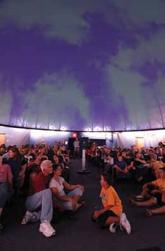 People of all ages have the opportunity to view a presentation on astronomy, Riverview High School is one of only a select few in the United States that has a fully functional digital planetarium that is part of the curriculum of the Astronomy class. #AdobeEduSweeps