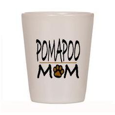 POMERANIAN/POODLE MOM POMAPOO Shot Glass > POMAPOO > Unique Animal Designs