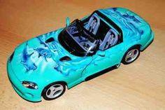 modellauto mit airbrush