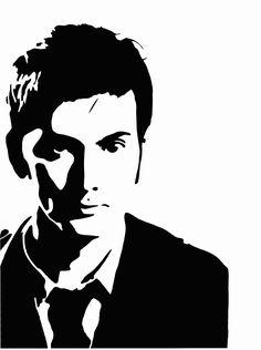 Dr.Who David Tennant Spray paint