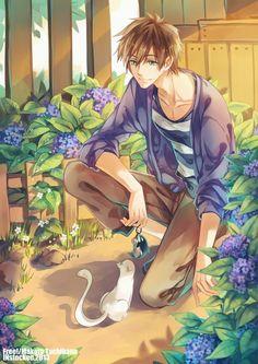 #Dessin #Free makoto tachibana par instockee. #Manga