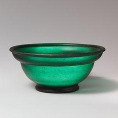 Glass bowl Roman 1st half of 1st century AD