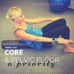 Strengthening your core and pelvic floor should be a priority for runners. A strong core and pelvic floor are the foundation for injury free running.