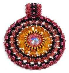 beAd Infinitum Patterns and Kits: Color Medallion Pendant