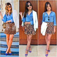 Skirt Outfits, Casual Outfits, Fashion Outfits, Looks Camisa Jeans, Effortless Chic, Elegant Outfit, Casual Looks, Sequin Skirt, Dress Up
