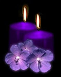gif bougie · The darkness purple Purple Love, All Things Purple, Shades Of Purple, Purple Stuff, Light My Candle, Candle In The Wind, Candle Picture, Photo Candles, Candels
