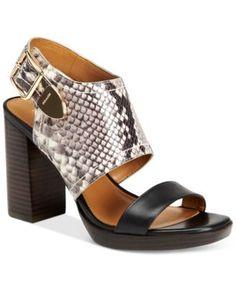 COACH Betsy Block-Heel Dress Sandals