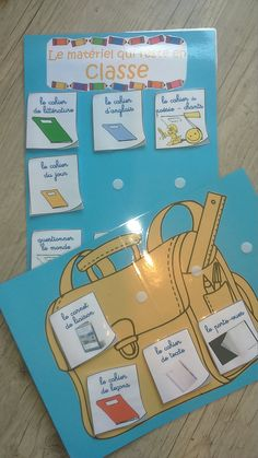 Ce que je mets dans mon cartable - Bilder für Sie Classroom Organization, Classroom Management, Class Management, First Day Of School, Back To School, French Classroom, Becoming A Teacher, French Resources, Trouble