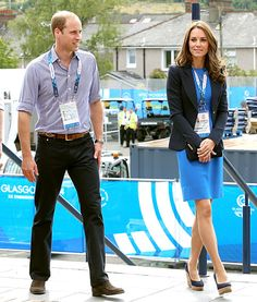 Prince William and Kate Middleton at the Commonwealth Games