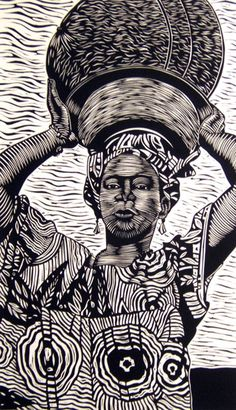 "One of my favorite artists, Juan Fuentes. Linocut ""Pama"""