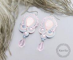 K Avril - Jewellery author. soutache Pastel Clouds. length 7.6cm