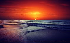 sea sunset beach photo wallpaper