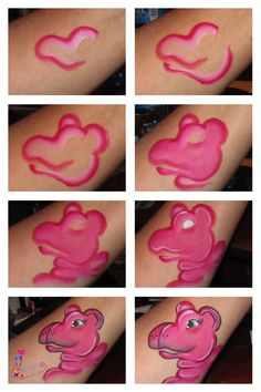 Step by Step Face painting Hippo inspired by #ShawnaDelReal