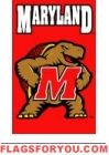 "Maryland Terrapins Applique Banner Flag 44"" x 28"""
