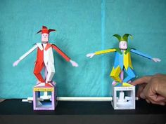 """Exercising Fool"" paper model with crank drive"