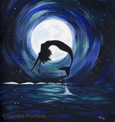 moonlight mermaid acrylic inspiration for dad's boat
