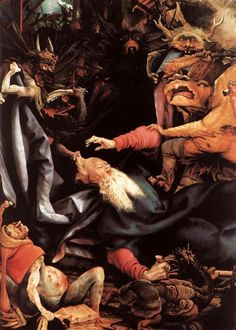 GRÜNEWALD, Matthias The Temptation of St Antony c. 1515