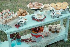 Breakfast Bar | yogurt and toppings, casseroles, fresh fruit, breads | http://www.pnpflowersinc.com/2010/12/12-days-of-simple-holiday-gift-giving_21.html