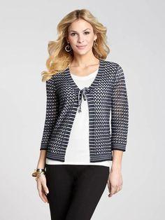 Tie Front Crochet Cardigan
