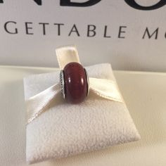 Pandora Wood Murano Authentic and in pristine condition! These are long retired and fun. Pandora Jewelry Bracelets