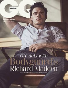 cdc3749db82 Richard Madden covers the January February 2019 issue of British GQ. Madden  Games