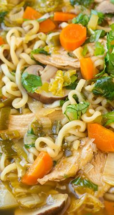 Asian Chicken Noodle Soup ~ It's packed with delicious flavors