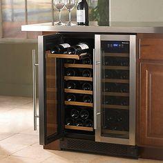... PRO 42 Bottle Wine Cellar Dual Zone(Double Stainless Steel Doors